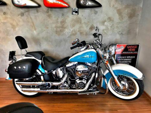 2017 Harley Davidson Deluxe Branca e Azul